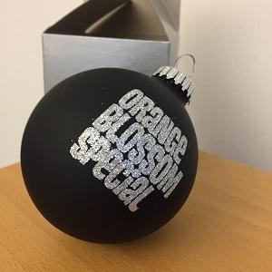 Foto von Weihnachtsbaumkugel (matt-schwarz)