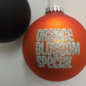 Foto von Weihnachtsbaumkugel (orange)